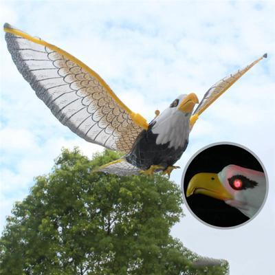 Luminous Bird Repellent Hanging Eagle With Music Flying Bird Scarer Garden Decoration Portable Flying Bird Garden Decor