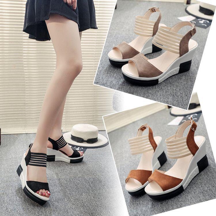 66f410247 Slope Fish Mouth Shoes Super High Heel Sandals Thick Bottom Muffins Sandals-buy  at a low prices on Joom e-commerce platform