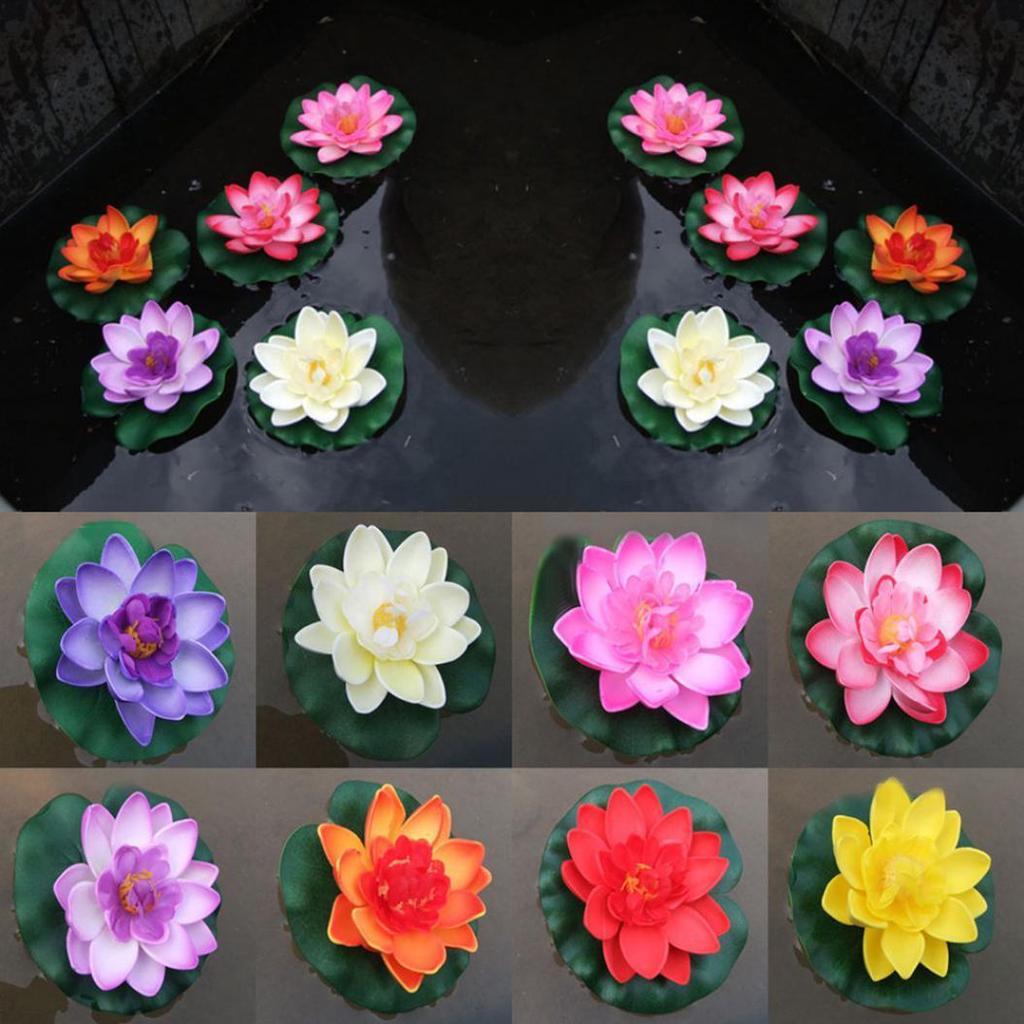 Искусственные реалистичные плавающие цветы лотоса диаметр 10 см кувшинки для декора аквариума пруда – купить по низким ценам в интернет-магазине Joom