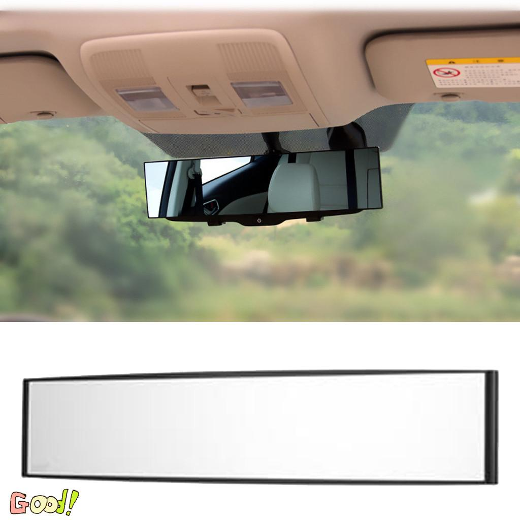 300mm Blue Glass Curved Convex Wide Angle Rear View Mirror for Car Interior