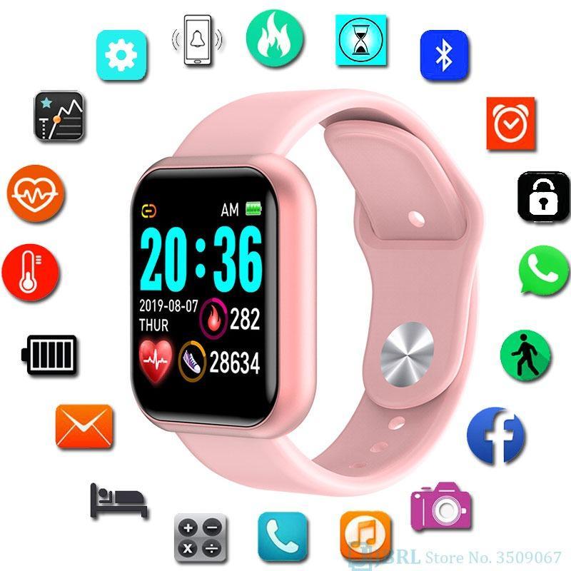 Y68 Smart Watch Kids Детские умные часы для девочек и мальчиков Электронные умные часы Студенческие спортивные часы купить недорого — выгодные цены, бесплатная доставка, реальные отзывы с фото — Joom