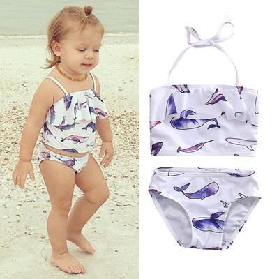 b1a9fa339ad14 2PCs Toddler Kids Baby Girls Swimsuit Swimwear Bathing Suit Tankini ...