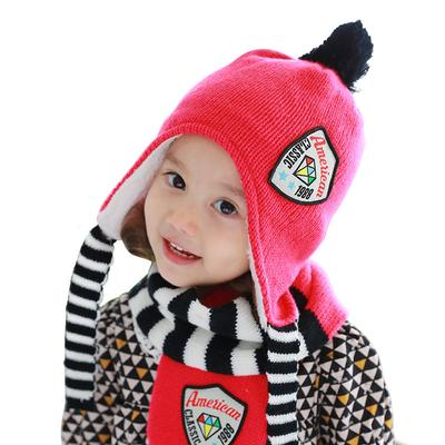 cd0ba8bf834 Tutuya 2 pcs Cute Children Hat and Scarf Fashion Wild Winter Warm Suits For Boys  Girls