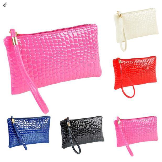 Women Shoulder Bag Crocodile Leather Clutch Messenger Handbag Coin Purse sy M9