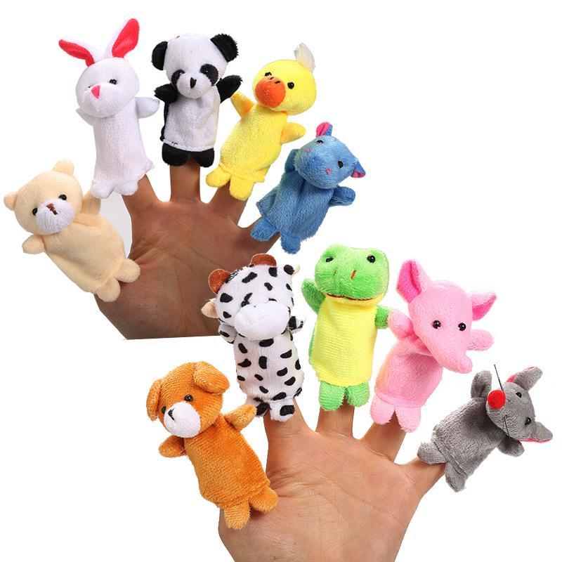 Animal Wildlife Hand Glove Puppet Soft Plush Finger Kid Child Toy Preschool Gift