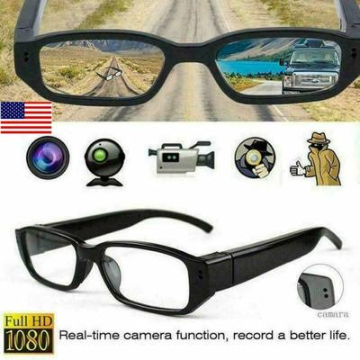 Camera Glasses 1080P,HD Mini Video Glasses Max 32GB Memory Card - Eye Glasses With Camera - Wearable Camera(Without SD Card)