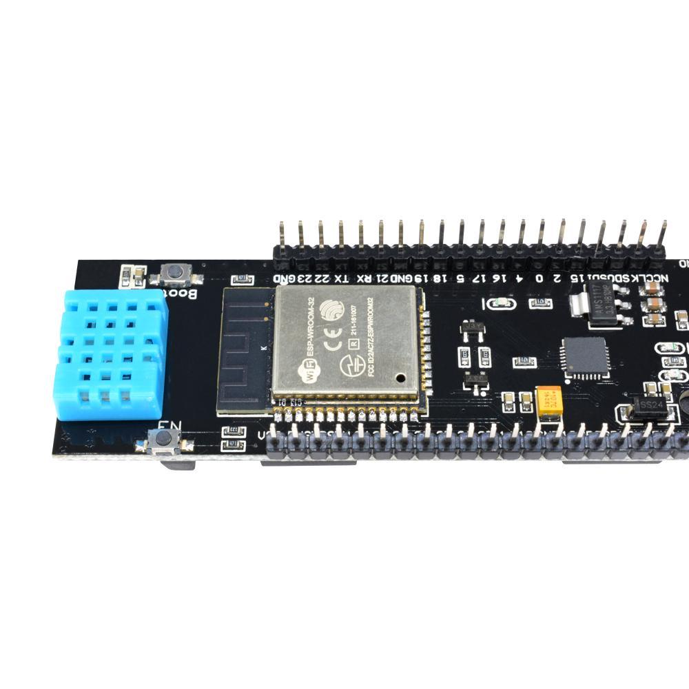 ESP32 CP2104 18650 Battery WiFi/&Bluetooth DHT11 Soil Temperature Humidity Sensor