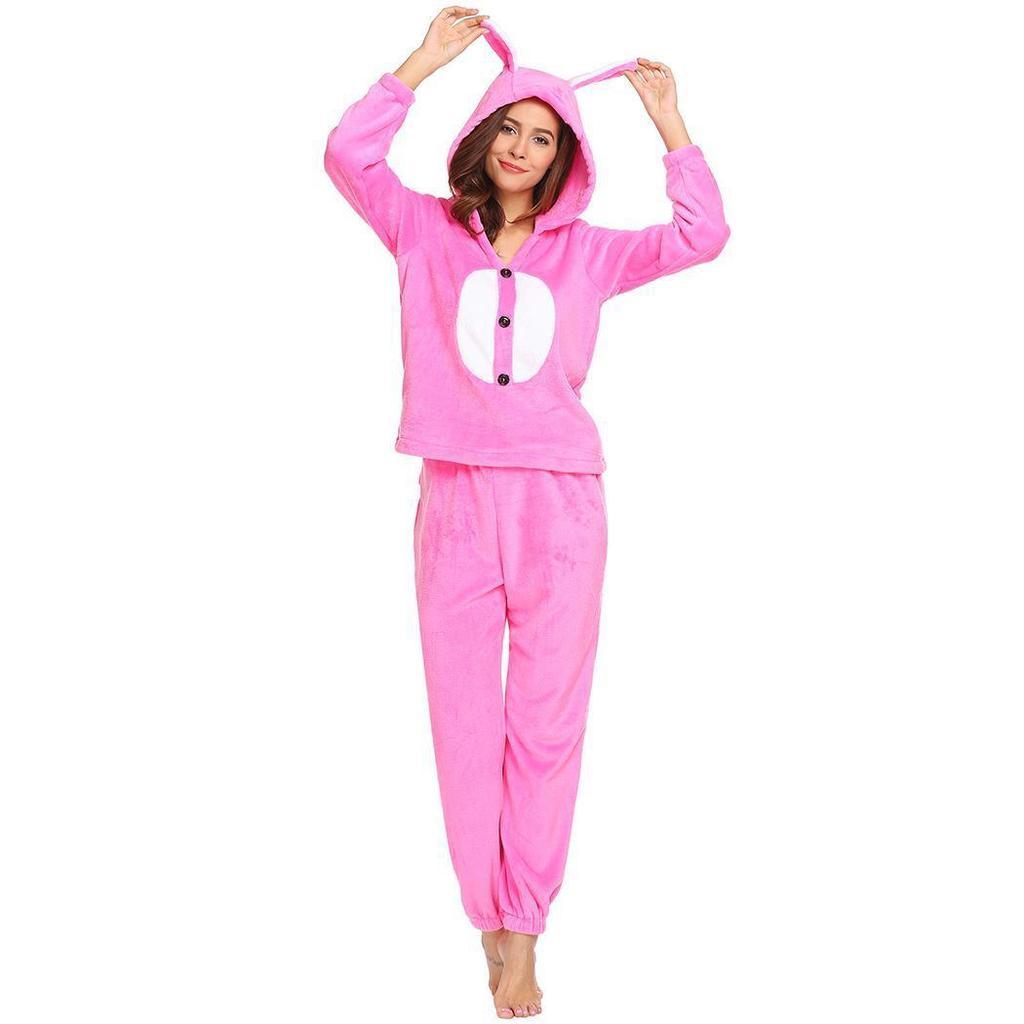 9ff6bd8ea598 Women Hooded Nightwear Winter Warm Long Sleeve Soft Plush Fleece Pajama Set-buy  at a low prices on Joom e-commerce platform