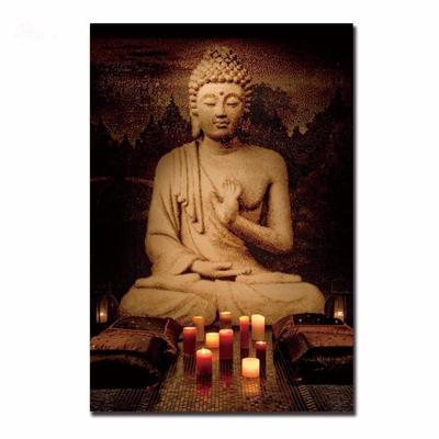 India budismo Buddha pintura al óleo cuadro decoración Cuadros Buda ...