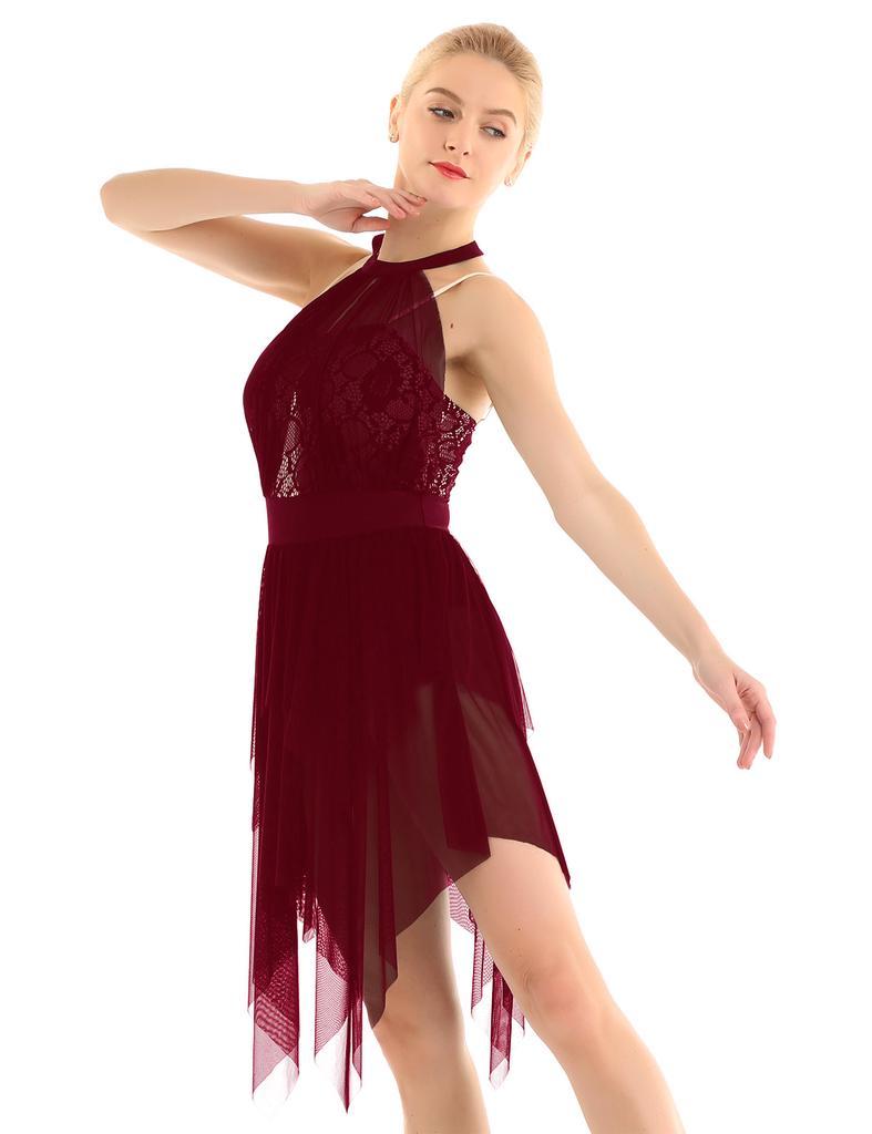 Femmes Patinage Artistique Danse De Glace Danse Lyrique Robe De Danse Lac Bodice Asymetrique Leotard Faire Des Achats En Ligne A Bas Prix Sur Joom