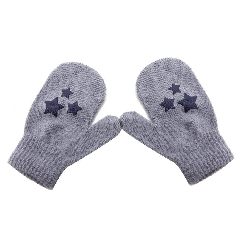 Niños puntean a estrella corazón patrón moda manoplas niños niñas ...