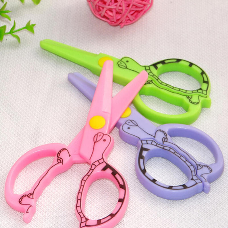 Scissors Dedicated Diy Handmade Cutting Paper Wallpaper Sscissors Gifts For Children Toy Plastic Safety Scissorss Chool Supply Cutting Supplies