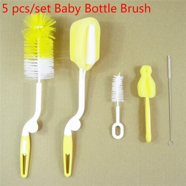 6PCS//set Baby Bottle Brush New Style Sponge Brush Baby Bottle Cleaning Kit Maternal And Babies Care Supply Silicone Bottle Brush