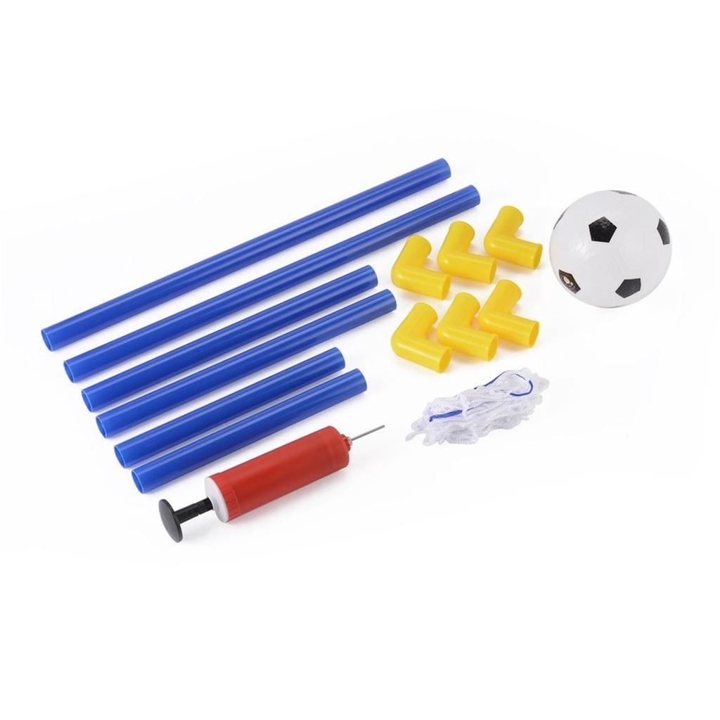 Folding Mini Football Soccer Goal Post Net Set with Pump Kids Sport Toy Slo