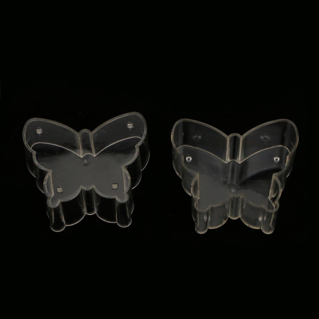 10 x Kunststoff transparent Teelicht Tassen Süße Schmetterling Kerze ...