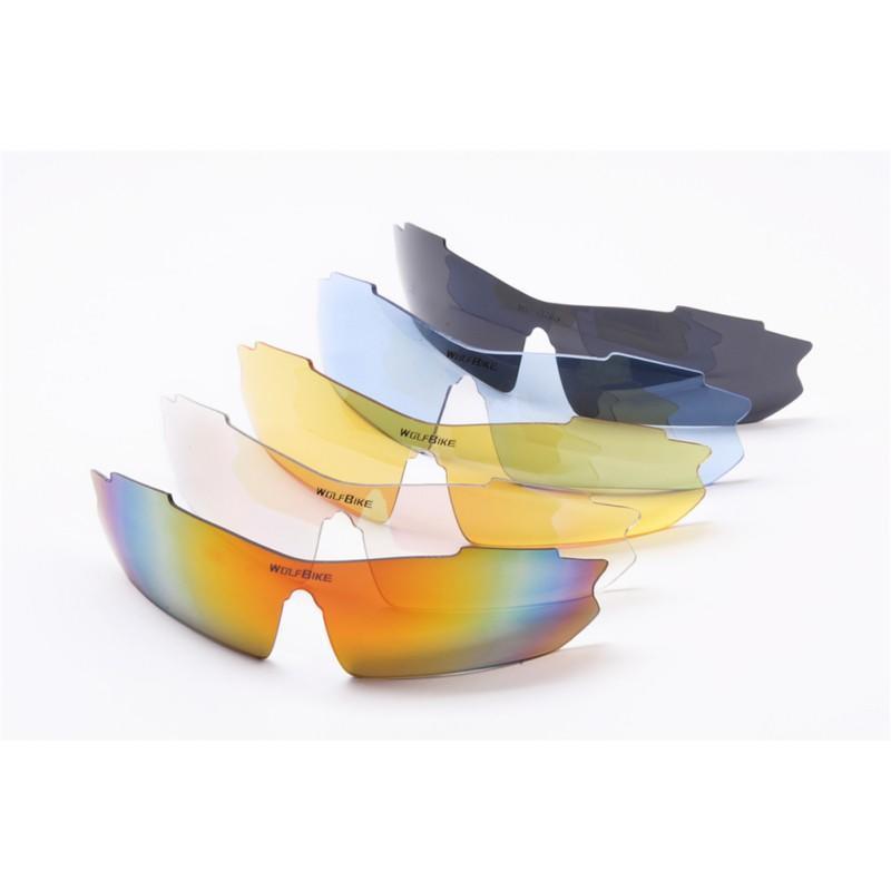 67662f7418 Polarized Cycling Sunglasses UV400 Bike Goggles +4 Interchangeable ...