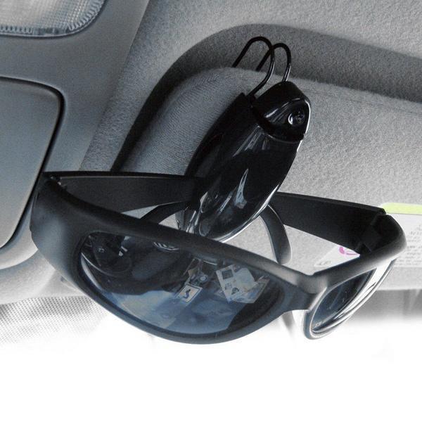 2Pcs Car Accessory Sunglasses Sun Visor Clip Card Pen Holder Eye Glasses Clips