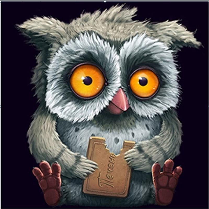 5D алмаз картины сова DIY Алмазный живопись животные Алмазный крест стежка оформитель фото