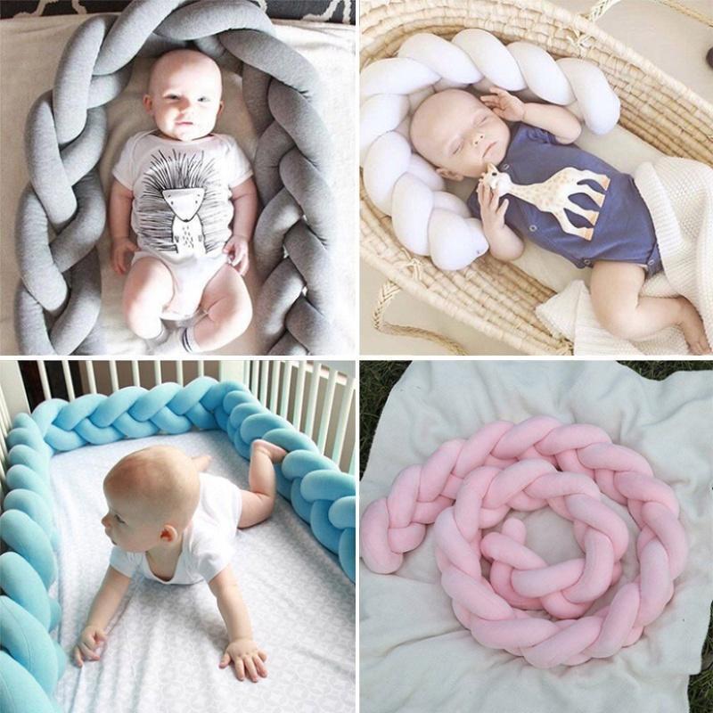 Babybett Stoßstange Baumwolle Krippe Protector komfortable Autokindersitzen Zaun