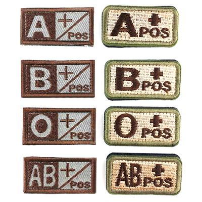 Arts,crafts & Sewing 4 Types Military Tactics Blood Types 3d Embroidered Hook Medical Armband Apparel Sewing Badges