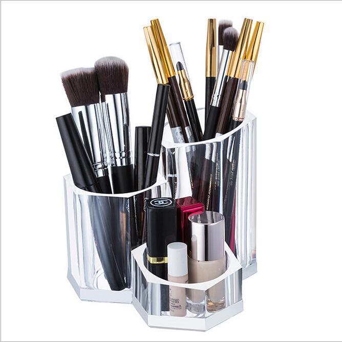 Acrílico del maquillaje organizador cepillo rimel pintalabios ...