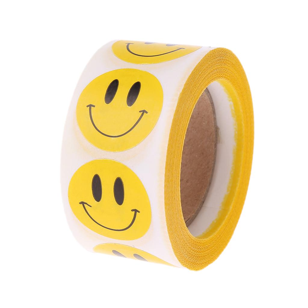 Heart Cartoon Emoji Stickers Big Smile Face Scrapbook Decoration Bubble Puffy