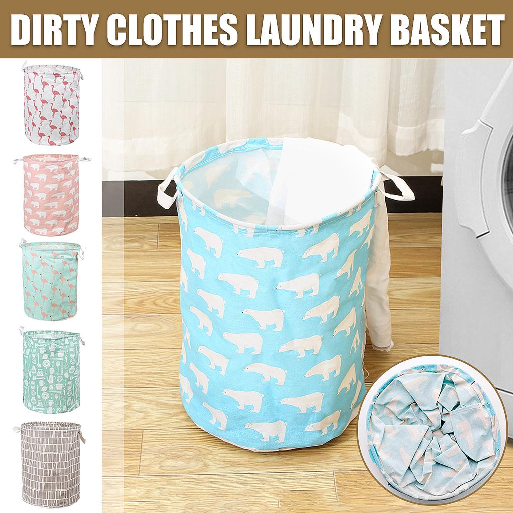 Folding Laundry Storage Bags Flamingo For Hamper Bucket Dirty Clothes Laundry