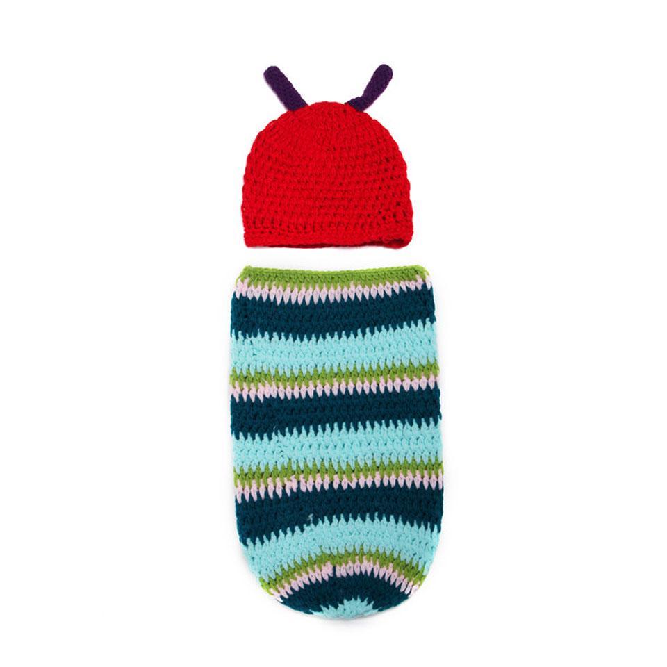 Crochet el sombrero de bebé oruga y capullo Crochet Set recién ...