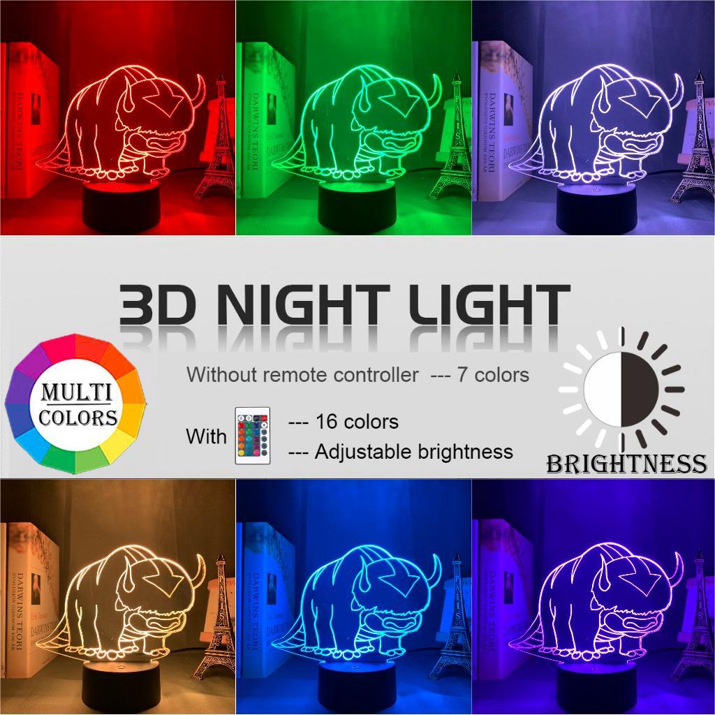 Acrylic Led Night Light Avatar 3D Lamp The Last Airbender Bedroom Decor Gift