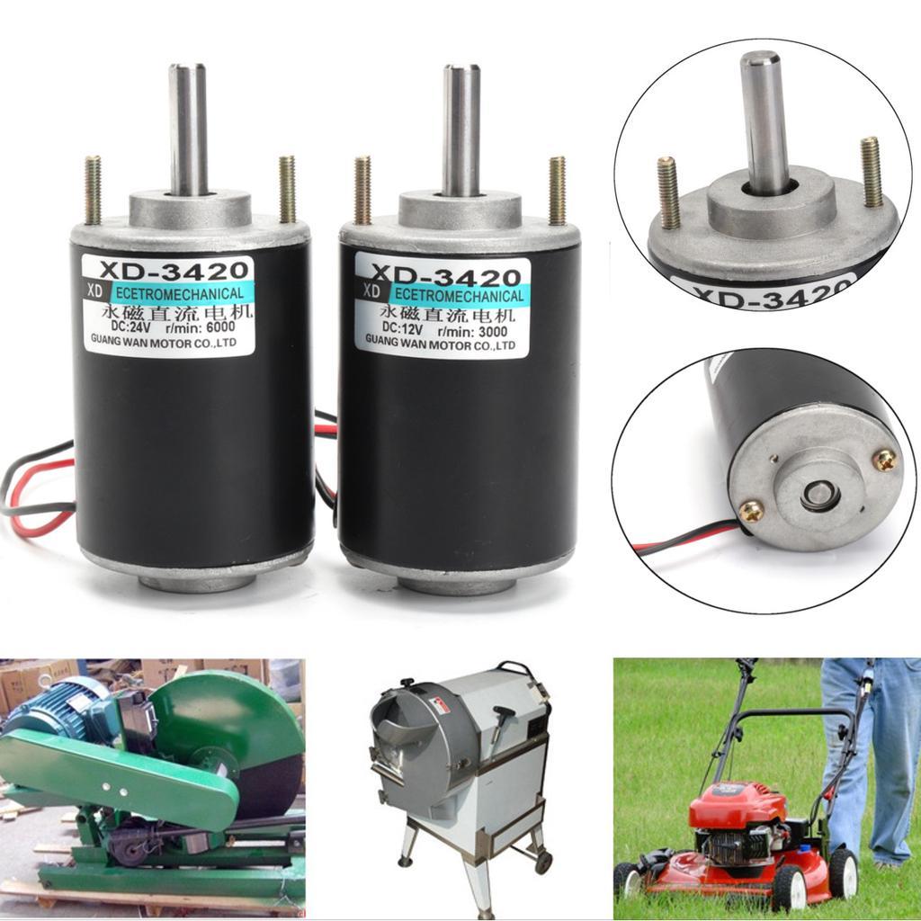 12//24V 30W CW//CCW Permanent Magnet DC Motor Electric High Torque High Speed Motor for DIY Generator 12V 3000RPM