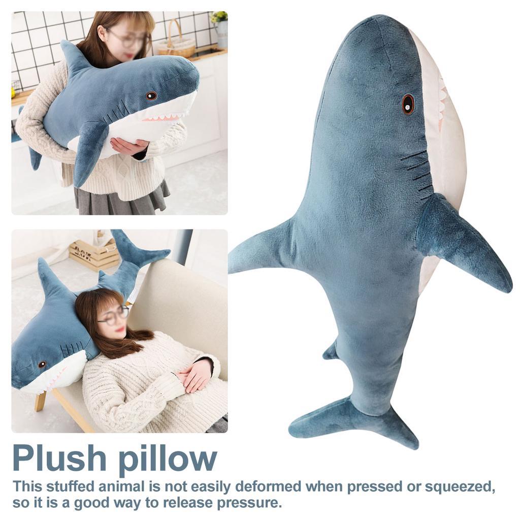 Huge Shark Animal Plush Soft Baby Toys Stuffed Doll Sleep Pillow Kids Xmas Gift