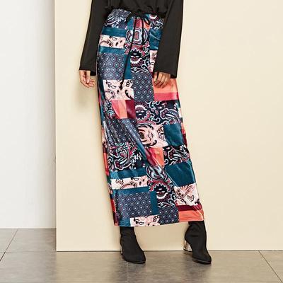 857c460d077 Высокой талией моды женщин печатных длинная юбка сексуальный пакет хип юбки  платье