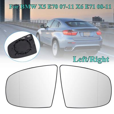 Left/Right Wing Door Heated Mirror Glass For BMW X5 E70 07-11 X6 E71 08-11