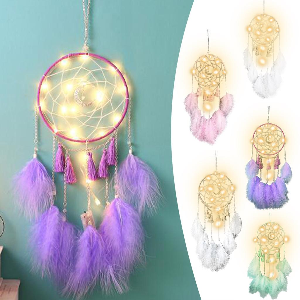 1pc Feather /& Cotton Dreamcatcher Wall Hanging Art Craft House Ornaments