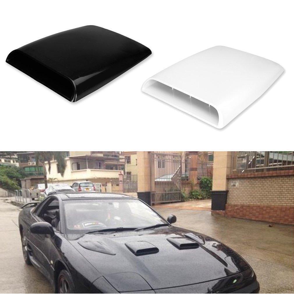 Acouto Bonnet Air Vent Cover,Universal ABS Car Decorative Intake Scoop Bonnet Air Vent Hood Cover Modification Parts