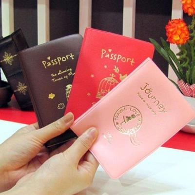 New Simple Travel ID&Document Holder Utility Pu Leather Passport Cover Protector