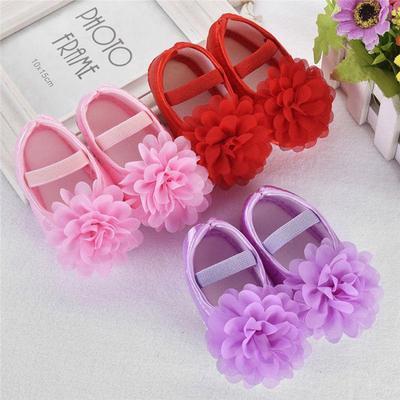 17e4301f510b Newborn Crib Shoes Print Flower Infant Soft Baby Girls Shoes Princess  Prewalkers
