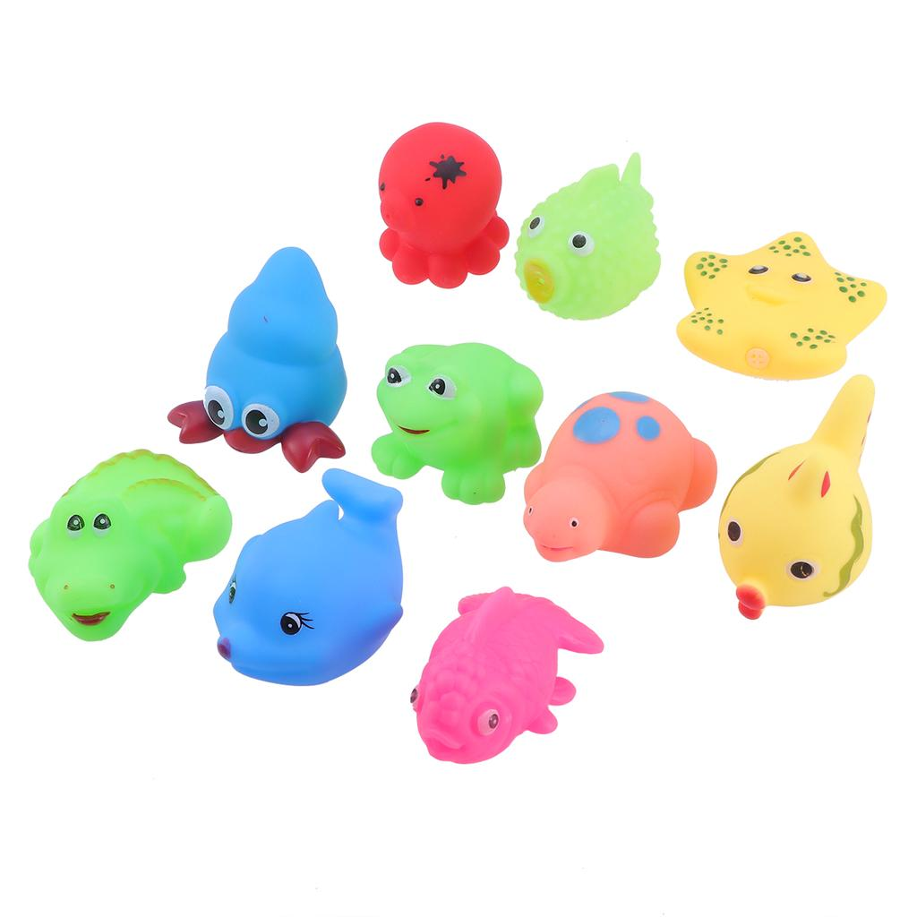 5pcs Baby Bathing Time Play Fun Floating Animal Rubber Bath Toy Boys Girls