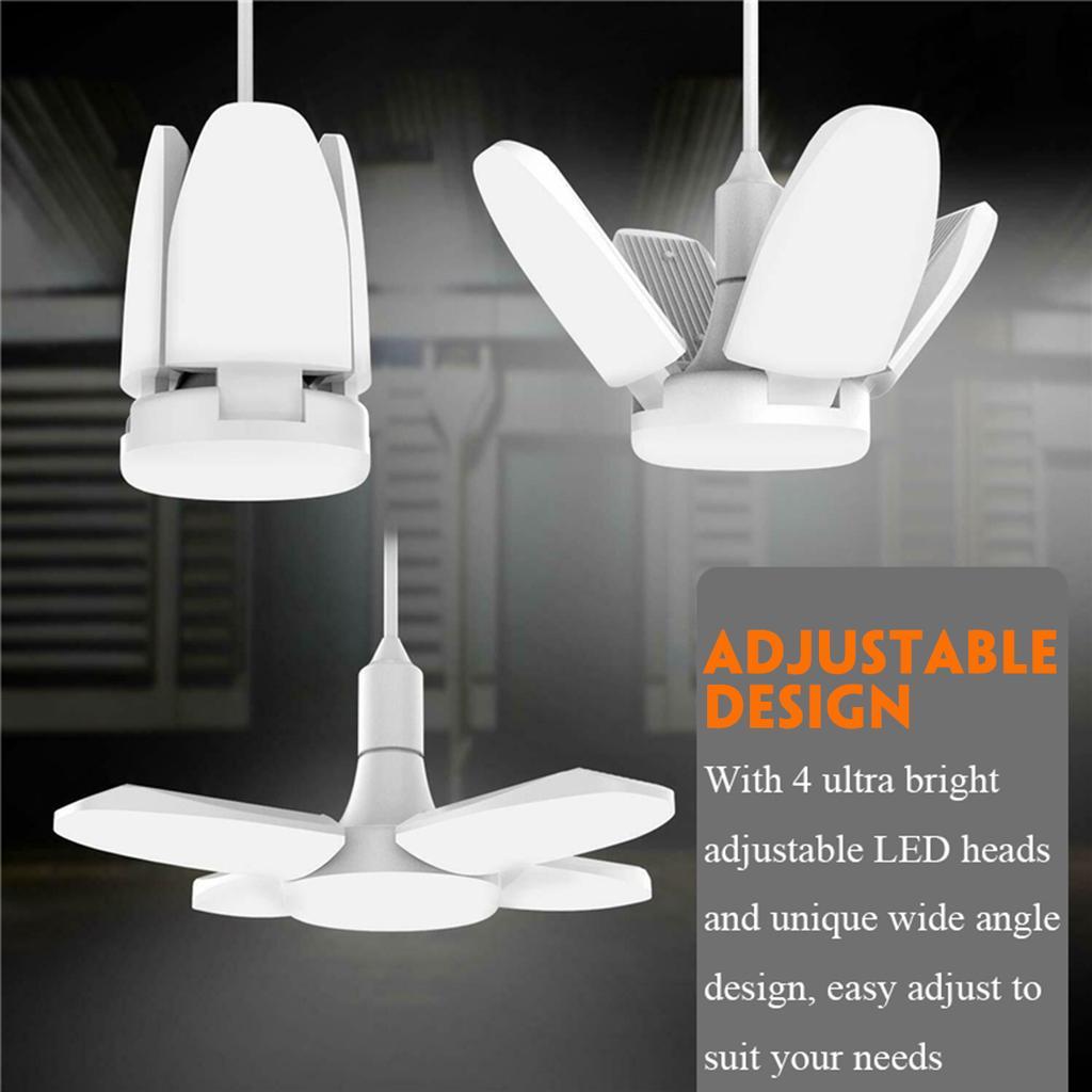 4x 60W 360 Degrees LED Garage Light Bulb Deformable Ceiling Lights Workshop Lamp