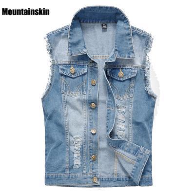 Girls Vest Sleeveless Jean Jacket Patchwork Lace Denim Vest Waistcoat
