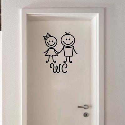 Cute Art Vinyl Humanoid Doll Decoration WC Sticker Toliet Sticker 1PCS Cartoon