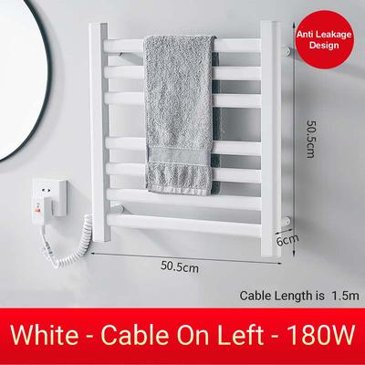 220V 180W Black White Electric Heating Towel Shelf Rack Heating Household Towel Rack Warm Towel Shelf Aluminium Alloy