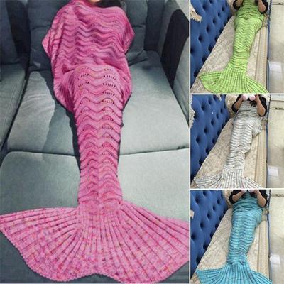 Sirena cola sirena TailBlanket Super caliente mano suave ganchillo ...