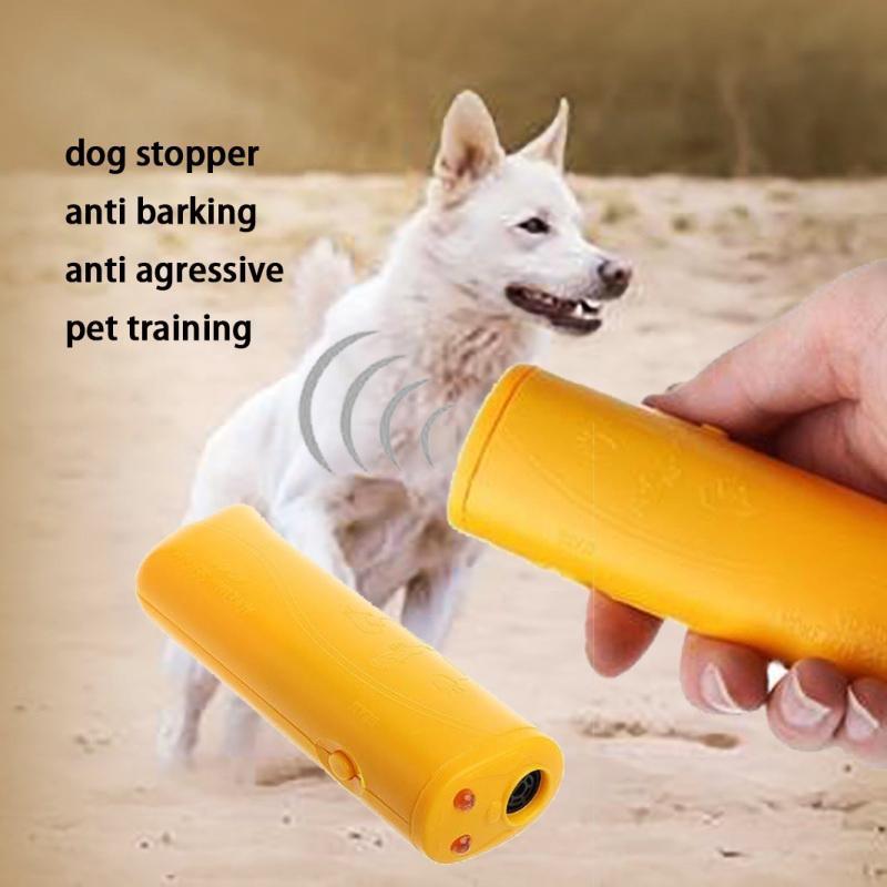 Pet Dog Repeller Anti Barking Учебное устройство LED Ультразвуковые СПИД 3 в 1 Стоп Кора Тренер управления фото