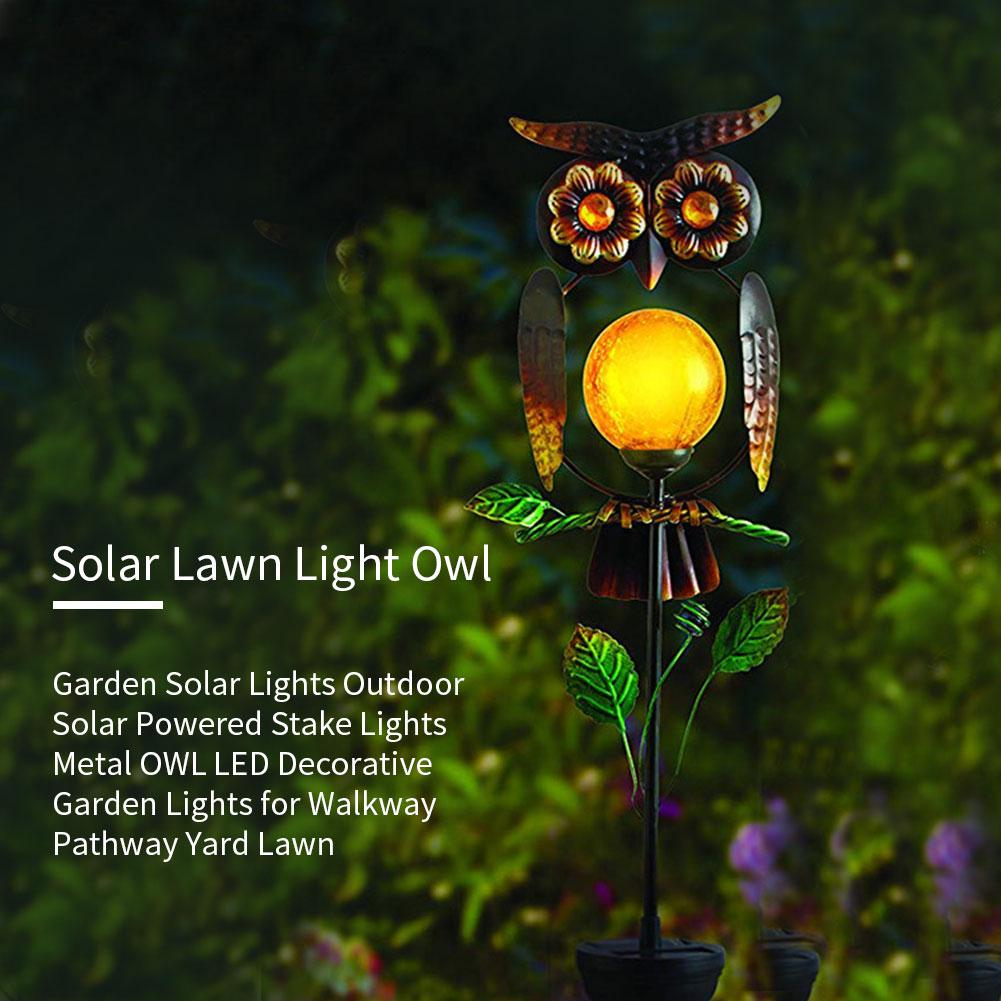 Garden Solar Lights Outdoor Solar Powered Stake Lights Metal Owl Led Decorative Garden Lights For Walkway Pathway Yard Lawn Buy At A Low Prices On Joom E Commerce Platform