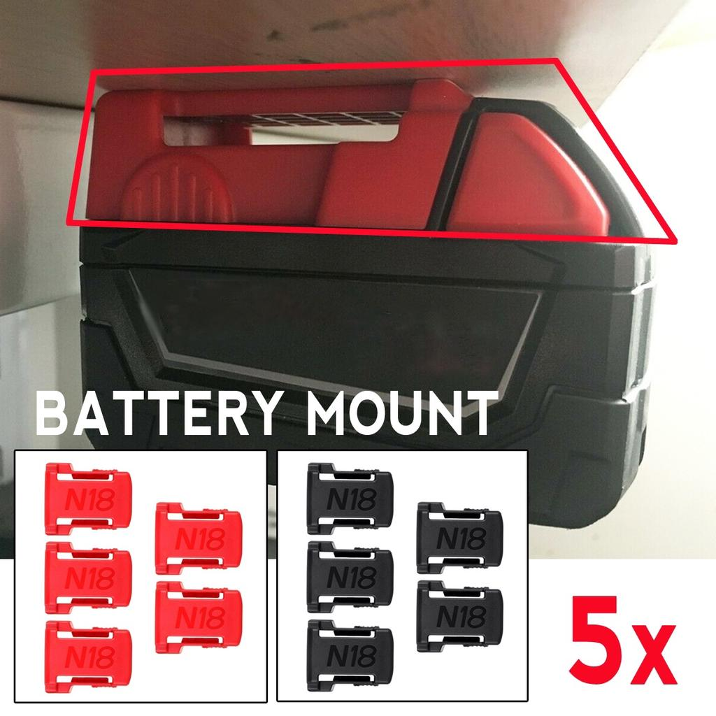 5pcs Battery Mount Holder Fit for Makita 18V Battery Shelf Rack Stand Slots