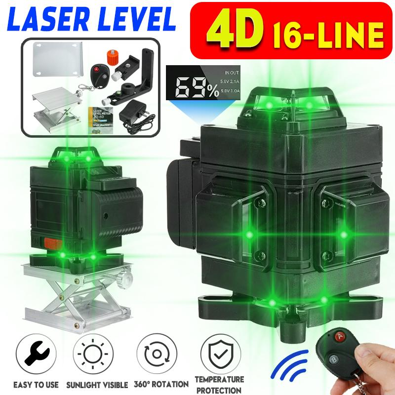 16 Lines 4d Laser Level Green Line Self Leveling 360 Horizontal And Vertical Super Powerful Laser Level Green Beam Laser Level Buy At A Low Prices On Joom E Commerce Platform