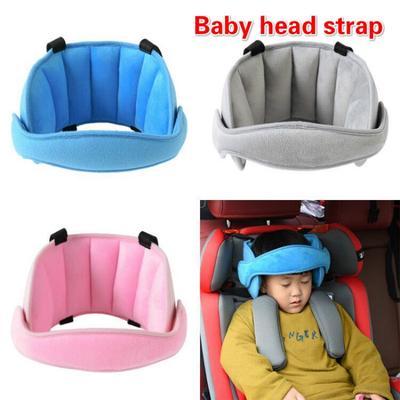 Blue Car Seat Belt Kids Safety Seatbelt Strap Soft Shoulder Pad Cover Head Neck Support With Seatbelt Clip for Children More Comfort on The Journey