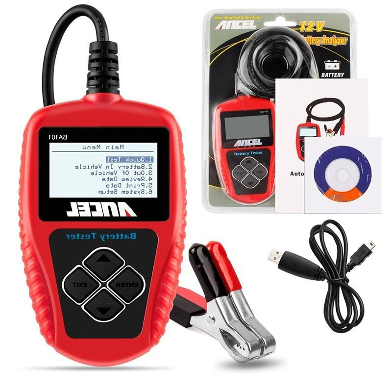 AE300 12V LCD Digital Car Battery Auto Analizzatore di sistema Automotive Vehicle Battery Voltage ohm Tester Strumento diagnostico rosso
