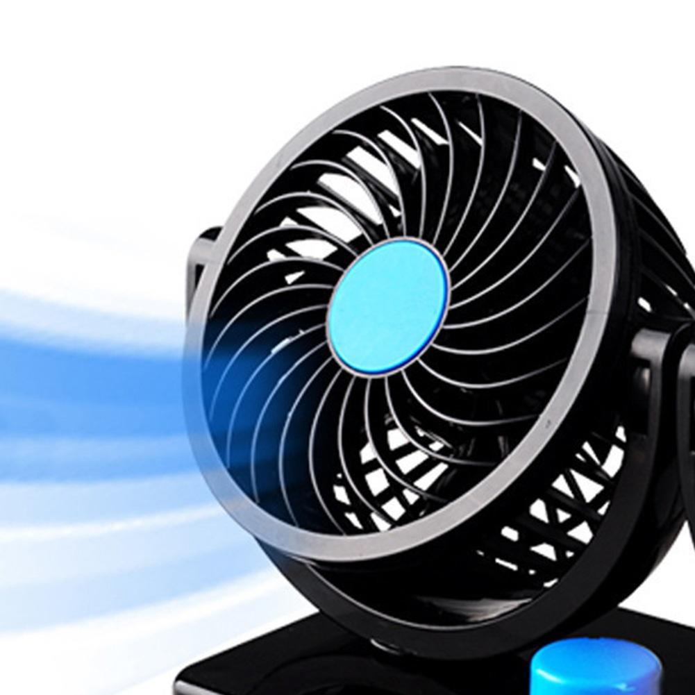 360 Degree Electric Car Fan Air Conditioner 2 Gears Cooling 1 Of 11